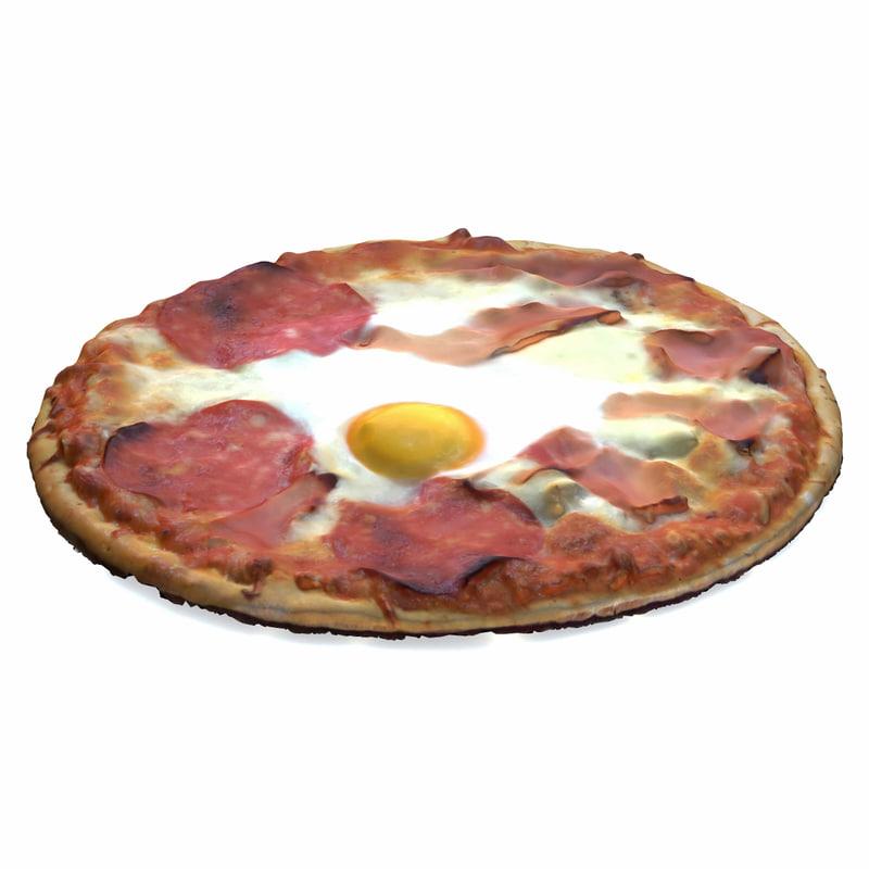 3d realistic pizza