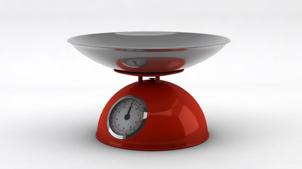 analog kitchen scale bowl 3d 3ds