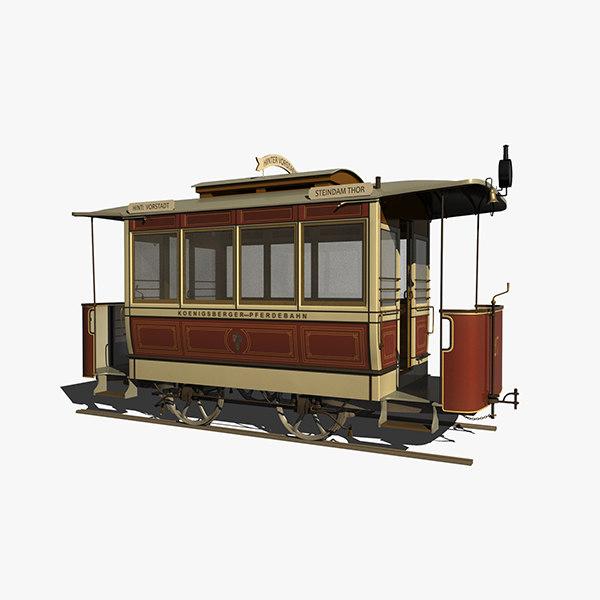 horsecar east prussia 3d model