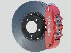 performance brembo brakes 3d model
