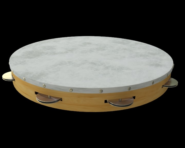 3d model tambourine