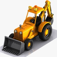 Cartoon Excavator 3