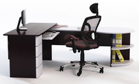 3d 3ds office desk chair props