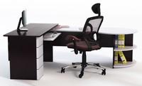 3d 3ds office desk chair props