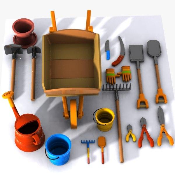 3d cartoon garden tool