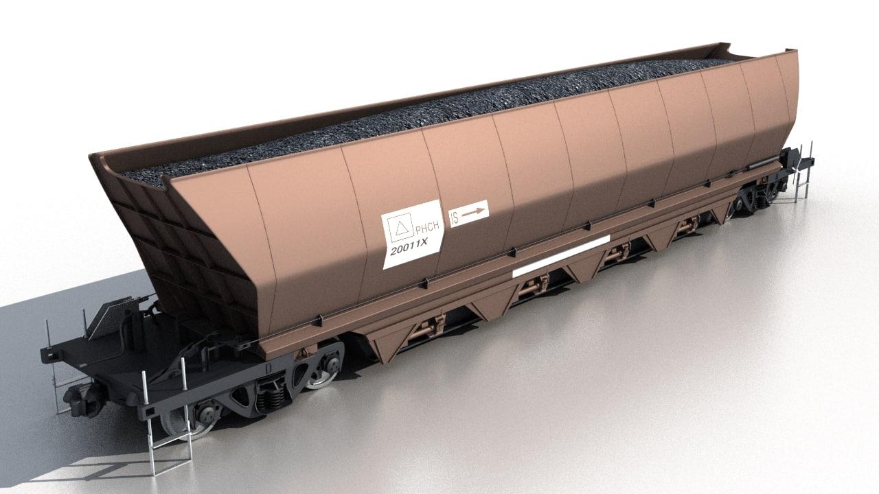 coal wagon 3d max