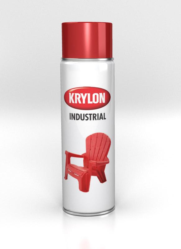 3d model spray paint