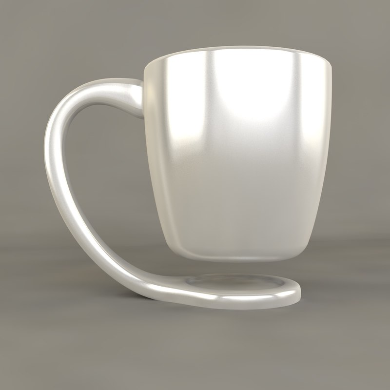 floating cup 3d model