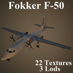 3d model of fokker air airlines