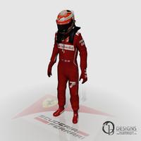 3d formula kimi raikkonen 2014 model