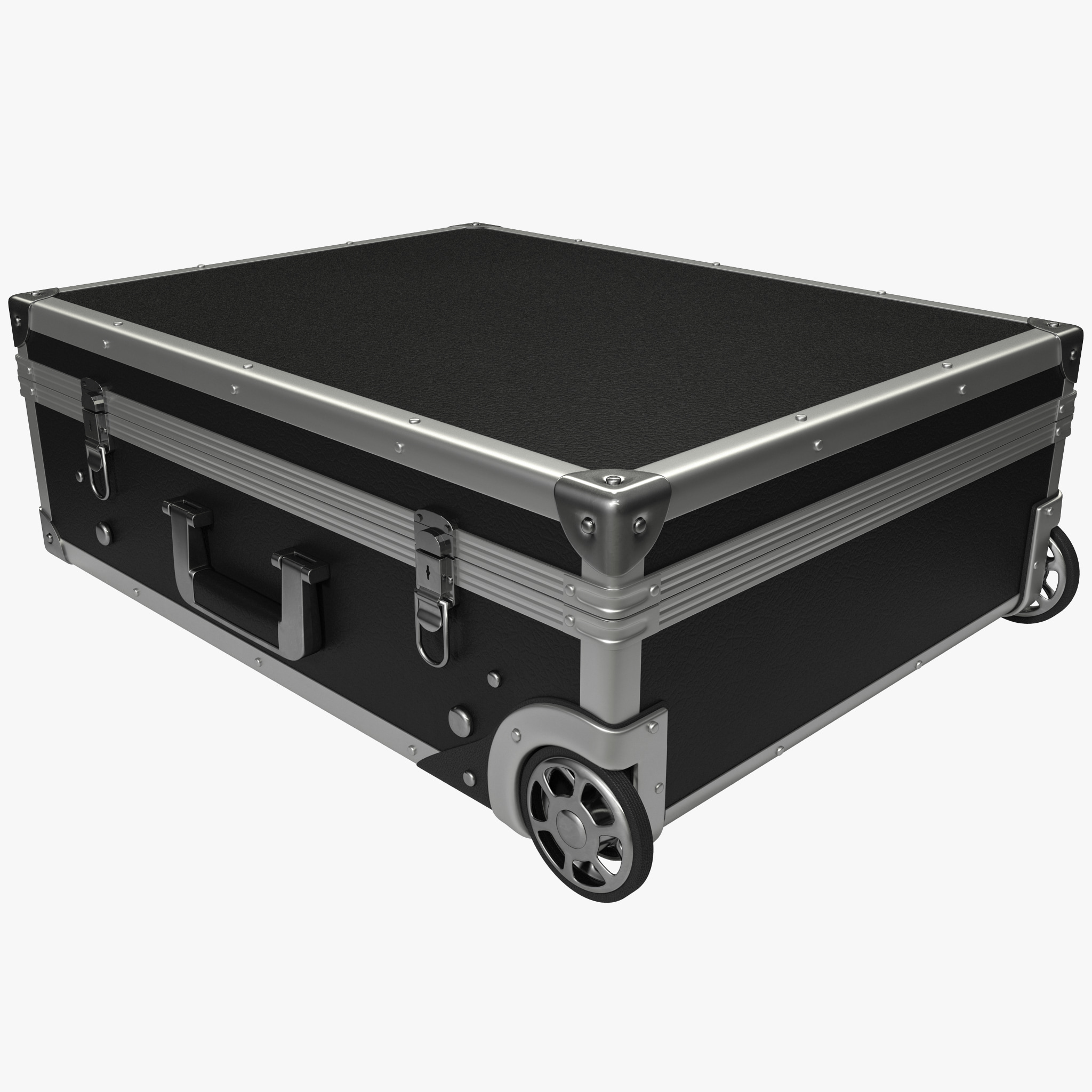 3d metal trolley suitcase