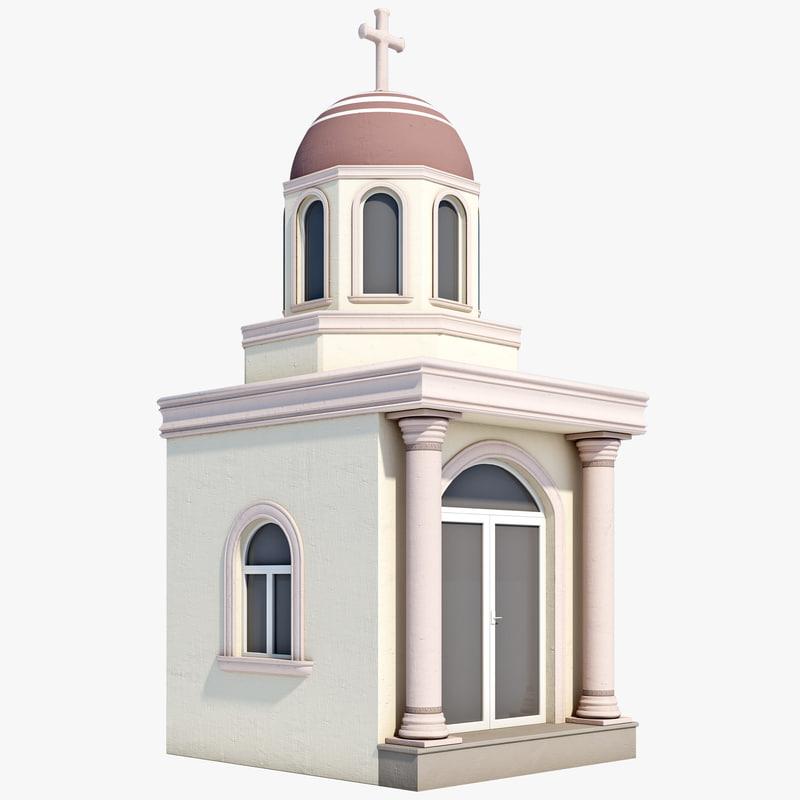 latin mausoleum 3d model