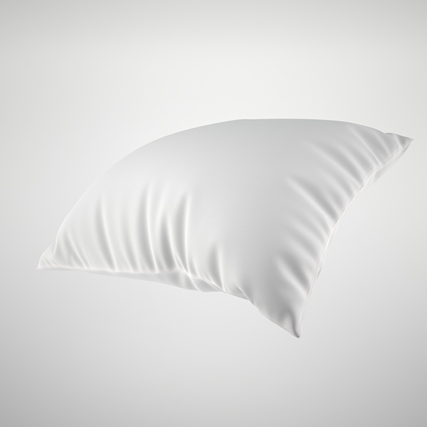 3d white pillow