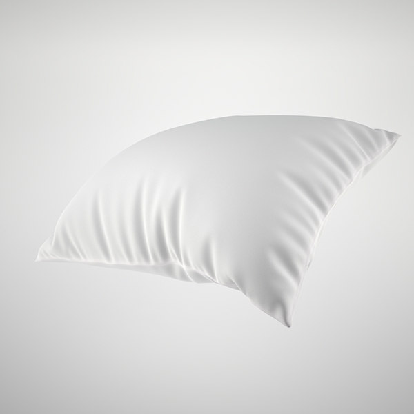 3d white pillow