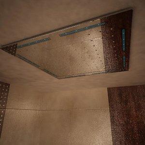 ceiling hand shower 3d 3ds