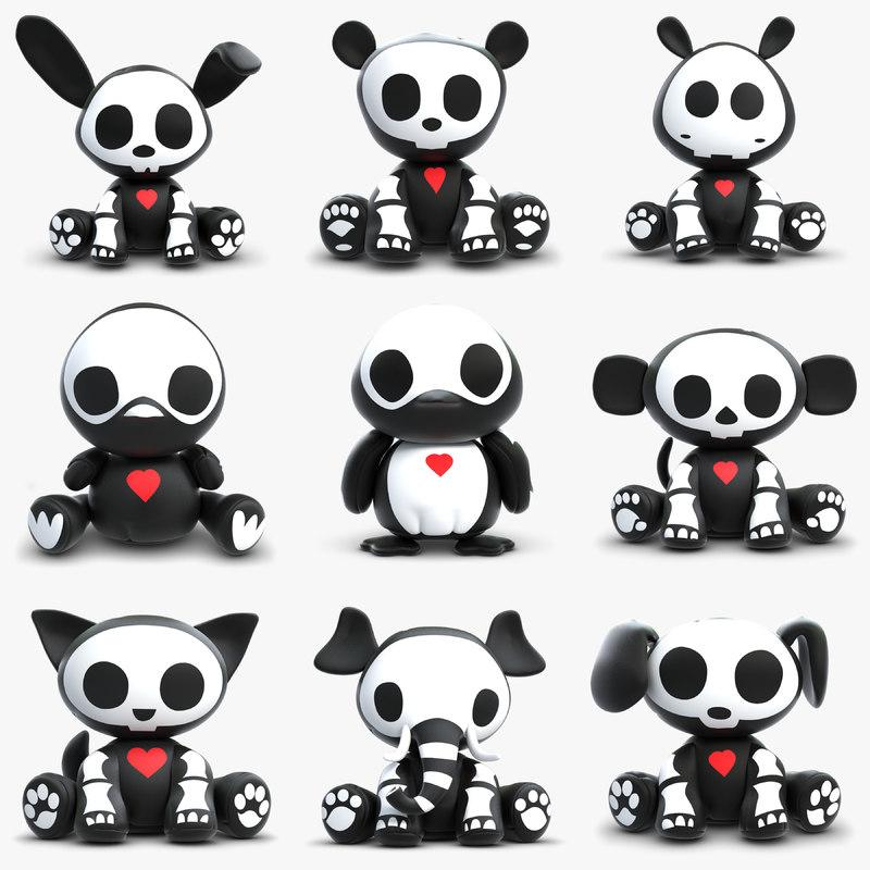 toys skelanimals animals 3d max