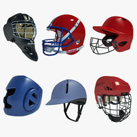 3d ice hockey helmet football model