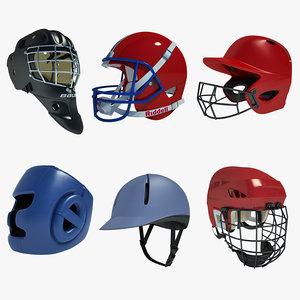 3d ice hockey helmet football model