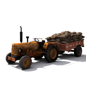 tractor engine 3d model