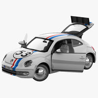 Volkswagen Beetle 2012 Race Car Rigged 2