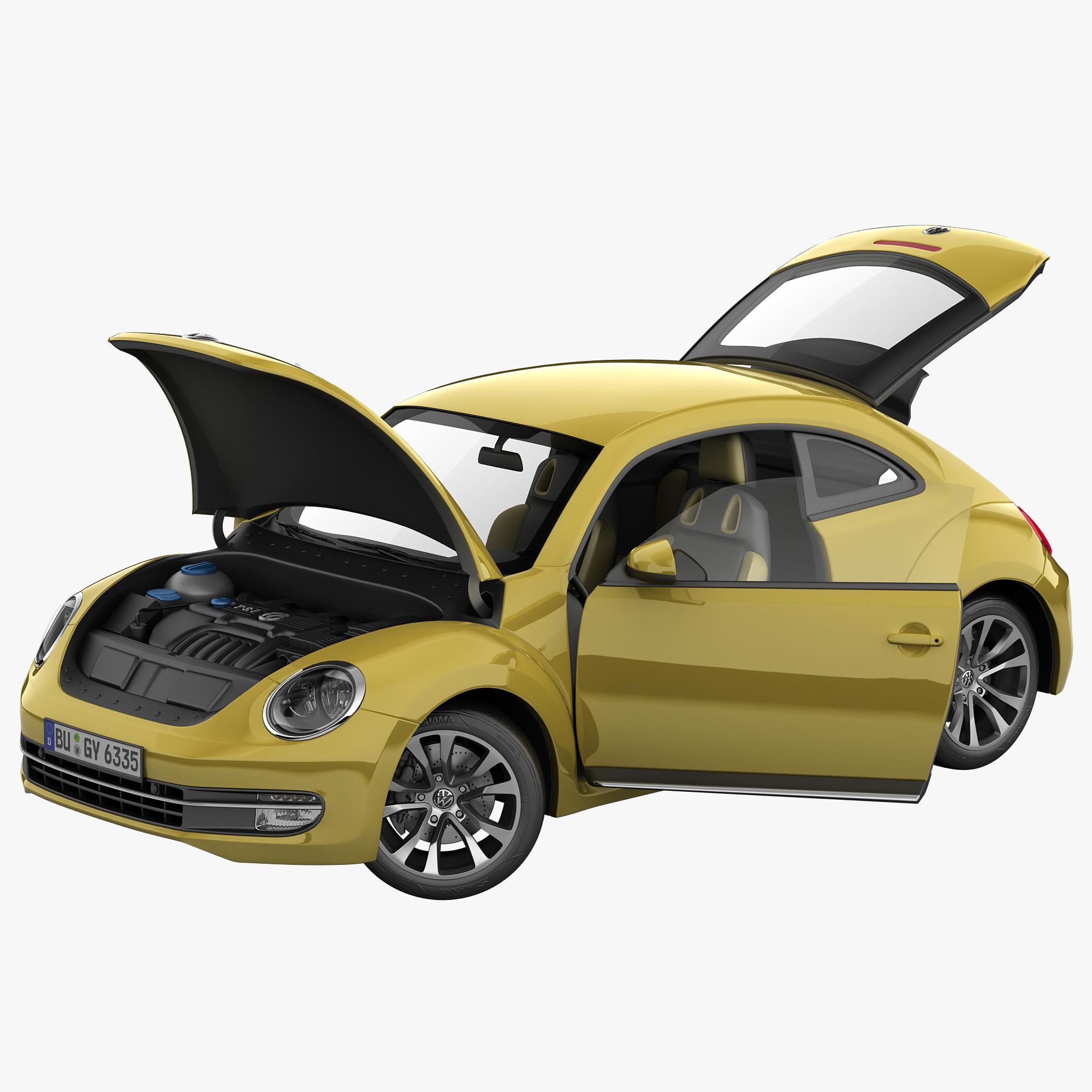 volkswagen beetle 2012 rigged 3d max