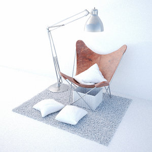 3d bat chair