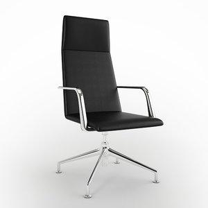 modern leather task chair 3d model