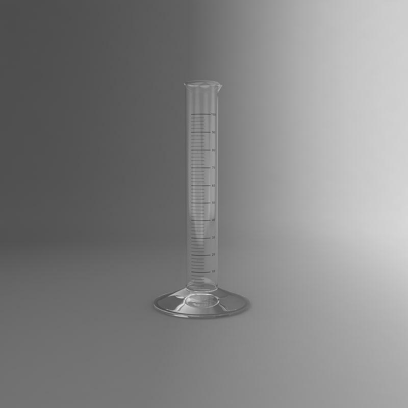 3d model graduated cylinder
