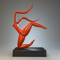 3d sculpture dance mantis model