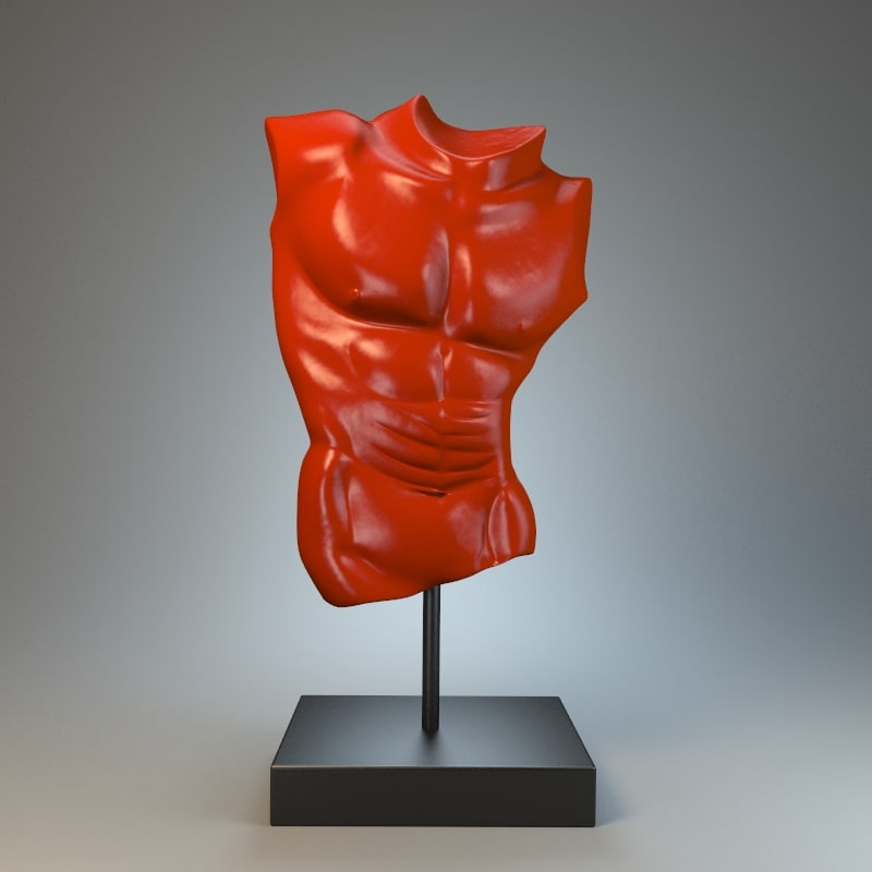 body sculpture apollo 3d model