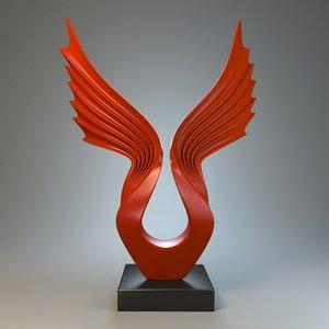 sculpture wings max