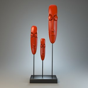 3d sculpture faces