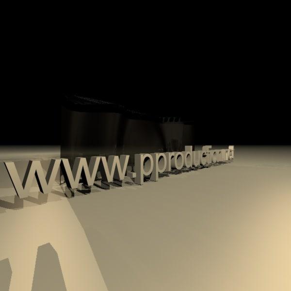 3d film strip model
