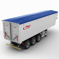 3d model trailer grain-carrier