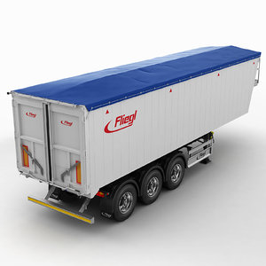 3d model trailer grain-carrier