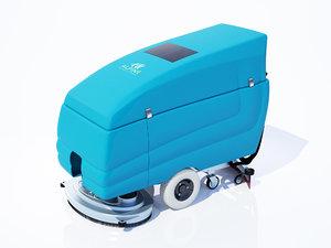 3d model floor scrubber