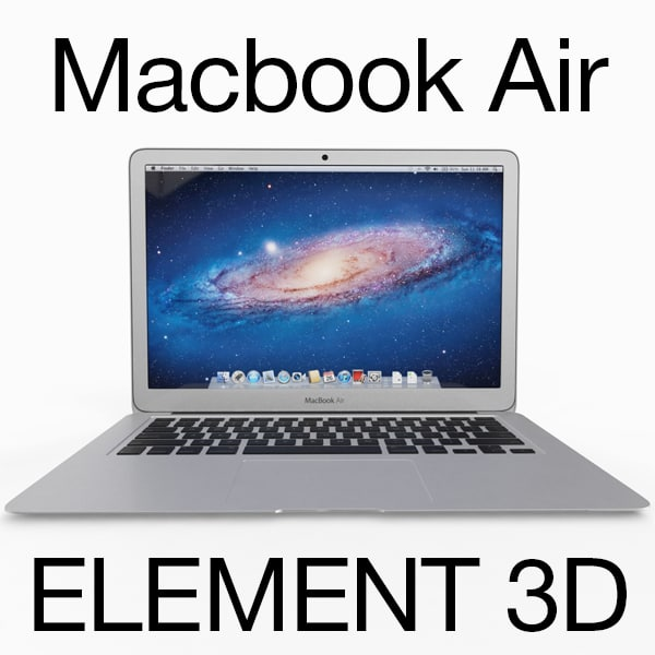 rigged apple macbook air 3d 3ds