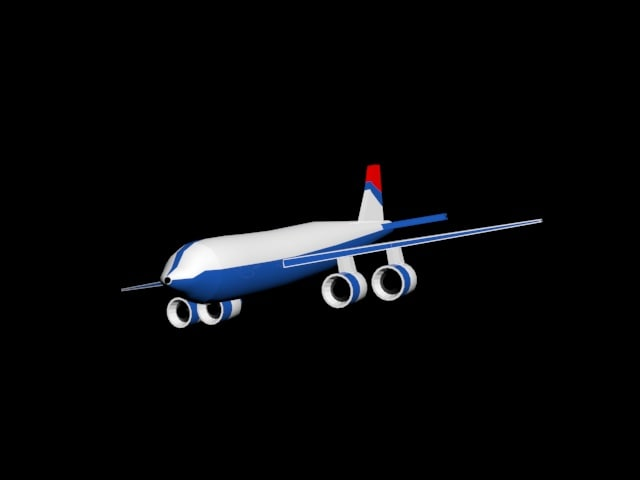 plane 3d 3ds