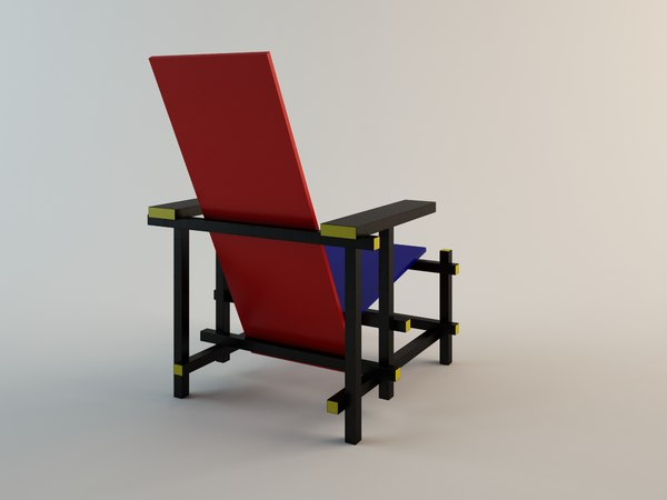 Gerrit rot Rietveld blaue Stuhl Der OXZuTPki