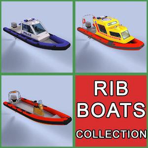 rigid inflatable boats 3d model