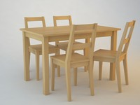 3d ikea table chair model