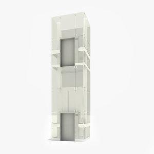 glass elevator max