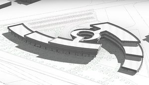 architectural multi-level parking 3d model