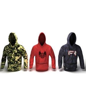 3d model hoodie hood