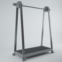 3d model clothing rack
