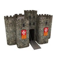 medieval castle gate tower max