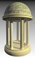 3d model of monument