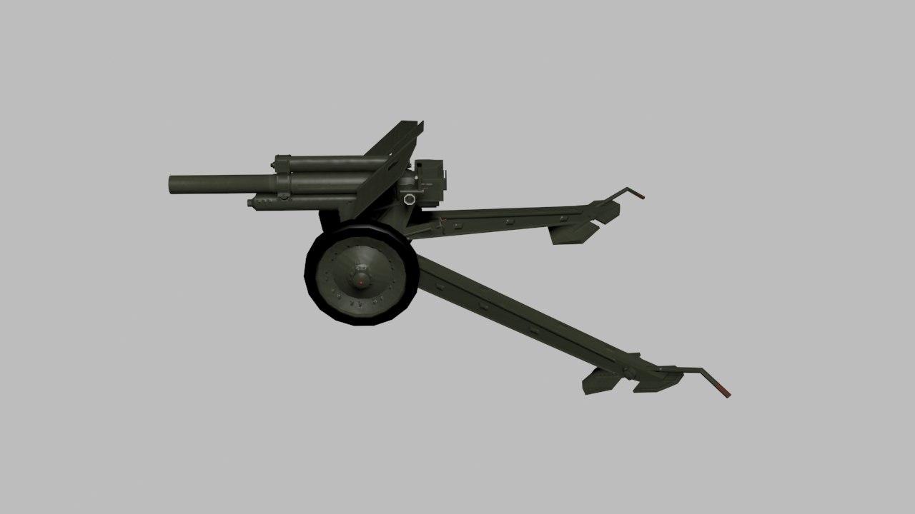 howitzer m-30 soviet 3ds