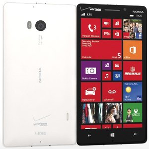 nokia lumia icon white 3d model