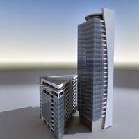 modern building architecture 3d obj